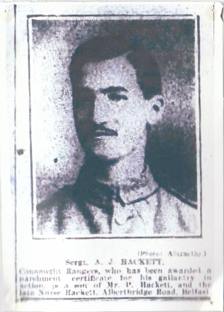 Sergeant Augustine John Hackett 1917