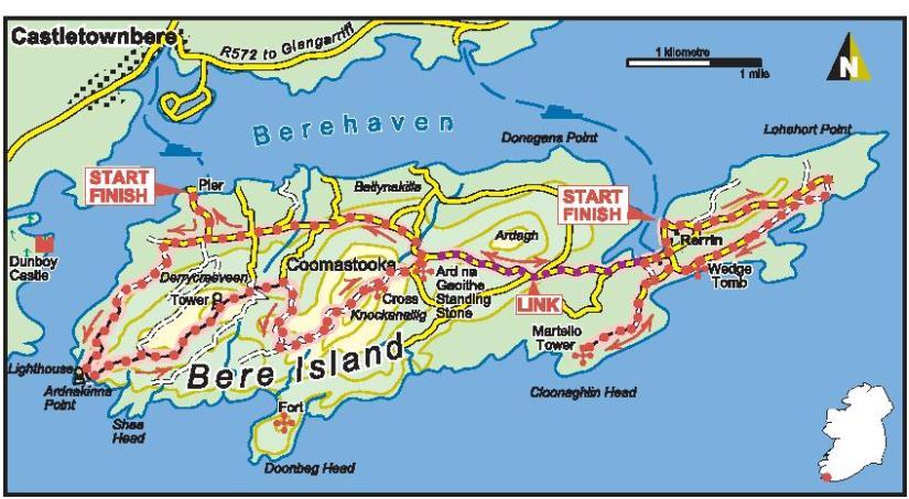 Bere Island map