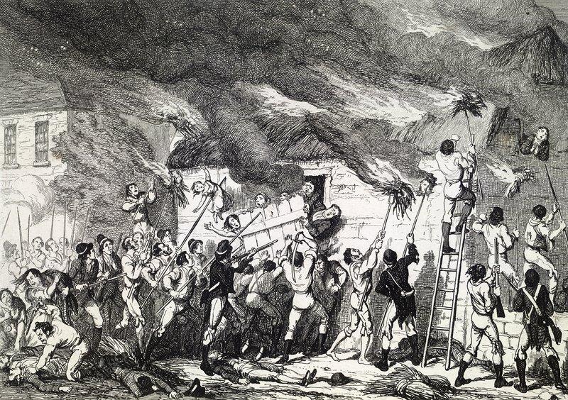 Scullabogue Barn massacre, artwork