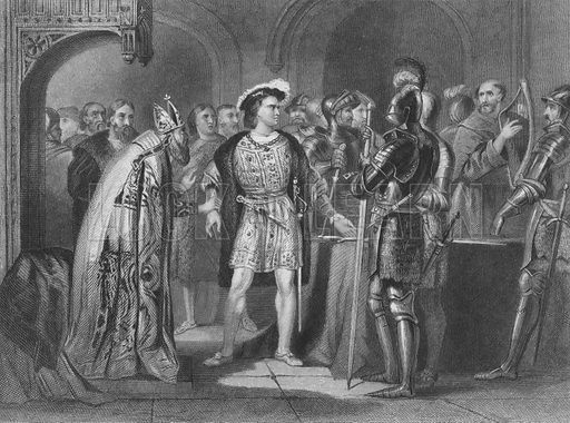 Thomas FitzGerald, 10th Earl of Kildare, renouncing his allegiance to Henry VIII of England