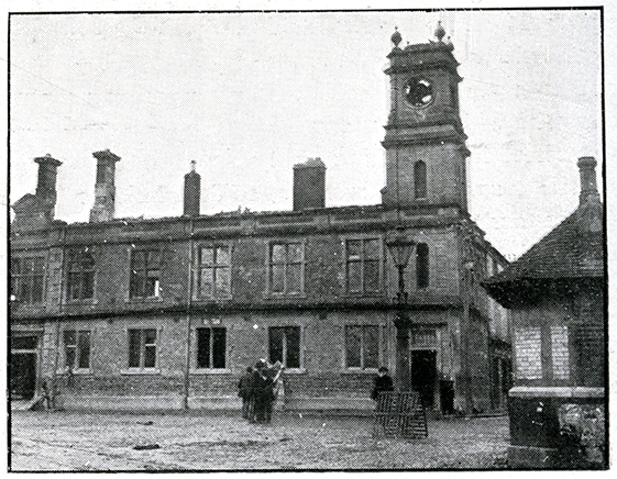 A BURNT-OUT shell: Tuam Town Hall in July 1920.